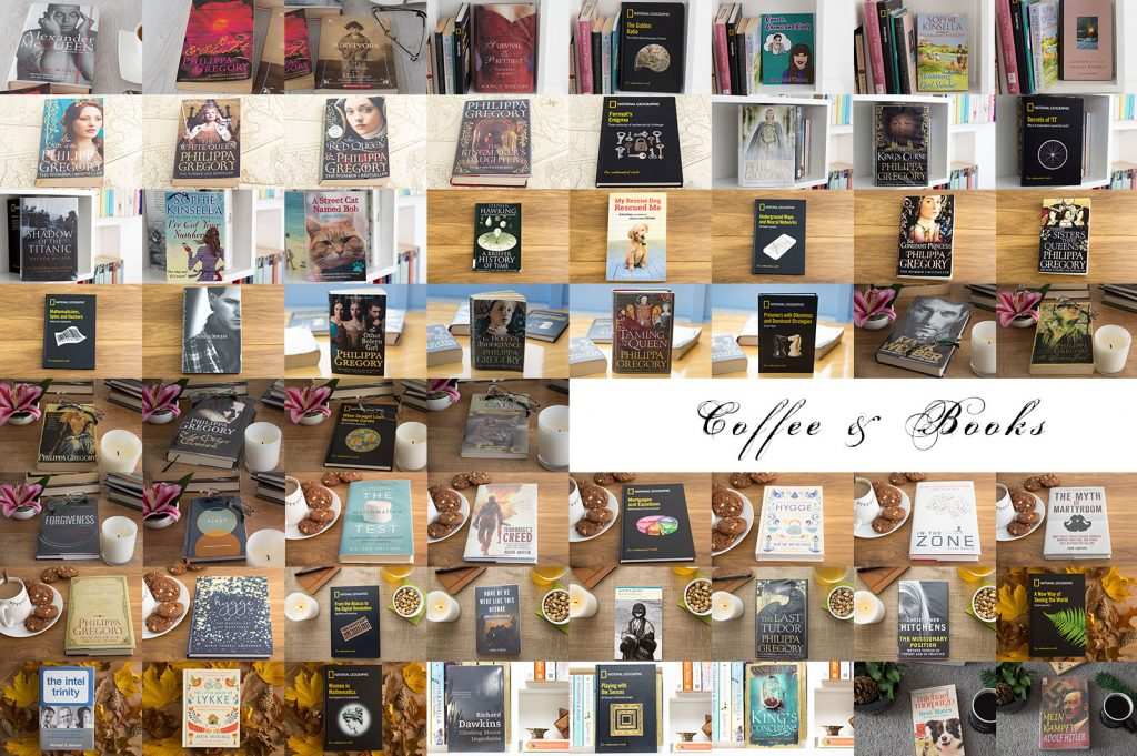 Collage of 60 books